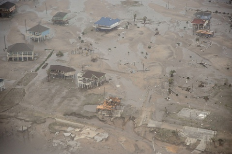 Hurricane Ike, Galveston (Coast Guard Photo)